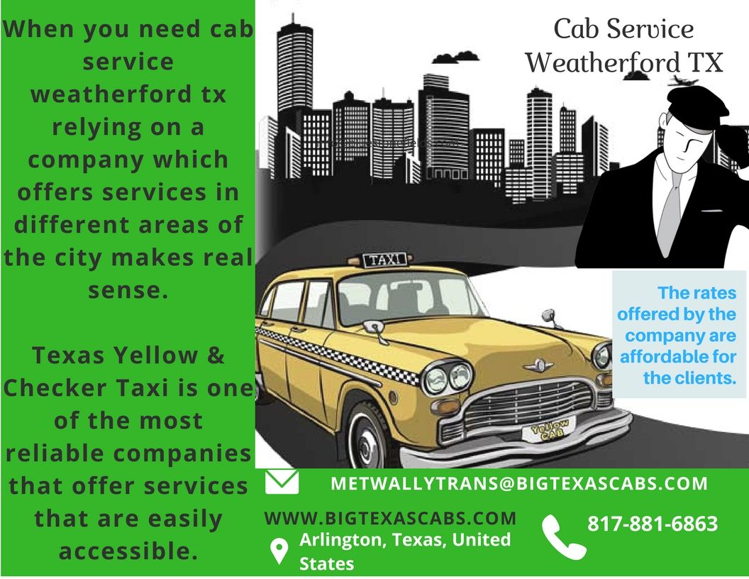 Texas Yellow & Checker Taxi Is Here To Offer Cab Service