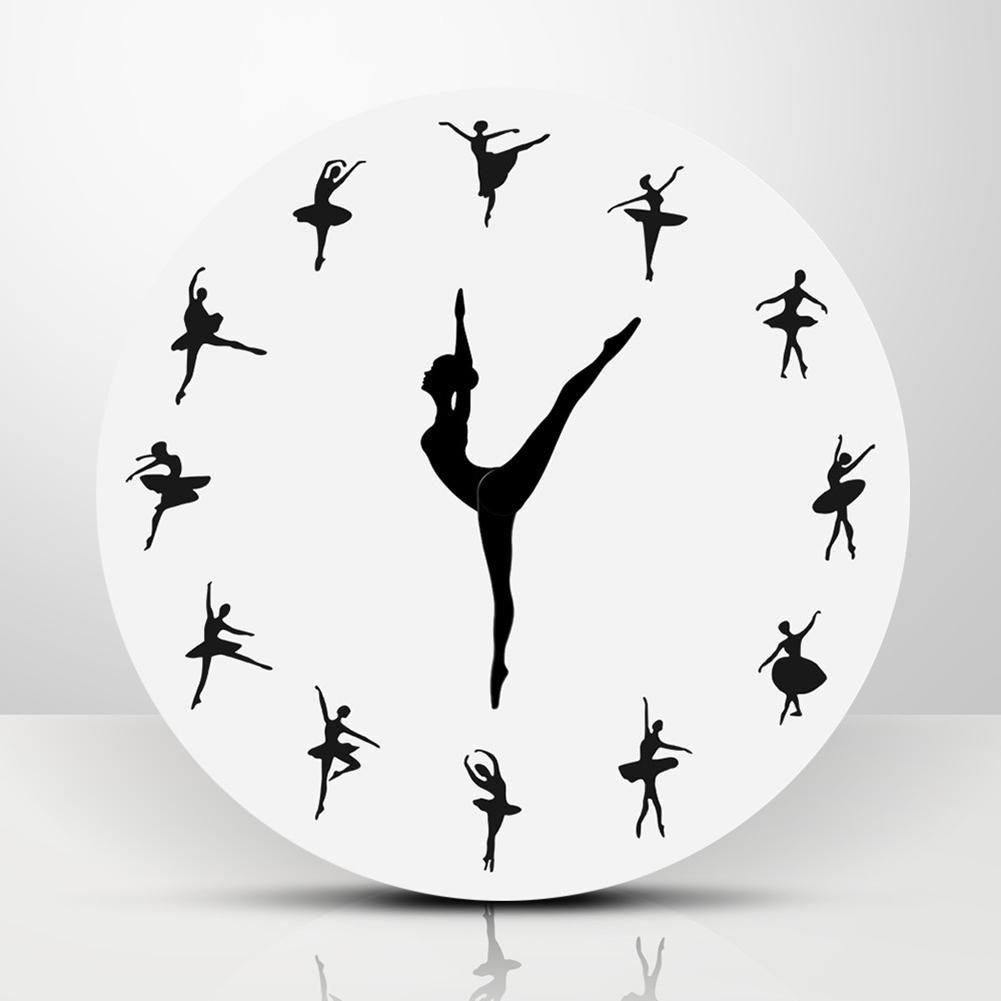 Ballet Dancing Wall Clock Lewe Decor In 2020 Dance Clock Wall Clock Clock