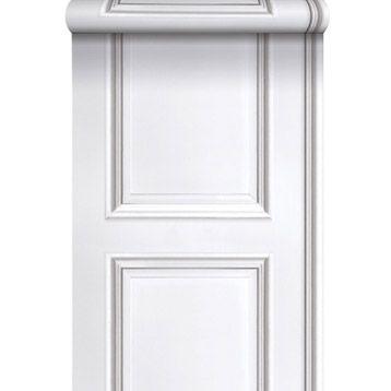 papier peint vinyle sur intiss moulures blanc larg m leroy merlin mettre. Black Bedroom Furniture Sets. Home Design Ideas