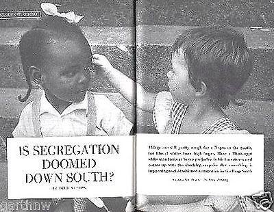 JIM CROW DEEP SOUTH IS SEGREGATION DOOMED? 1950 PICTORIAL PREJUDICE & CHANGE