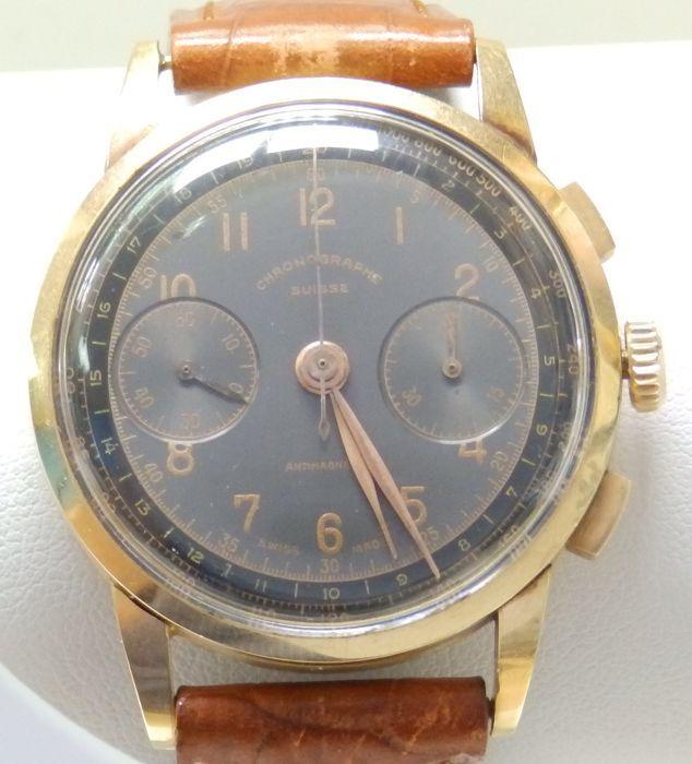 Chronographe Suisse. Gentlemen's chronograaf horloge. Omstreeks 1940.  EUR 1.00  Meer informatie