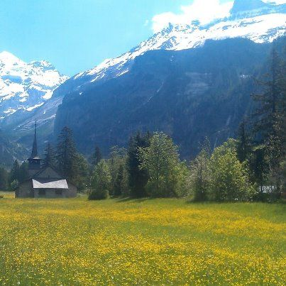 The picturesque village of Kandersteg.  Taken by me on 30 May 2012.