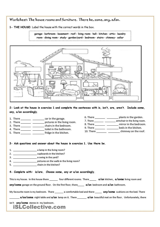 House Parts Teaching Jobs Writing Skills Worksheets