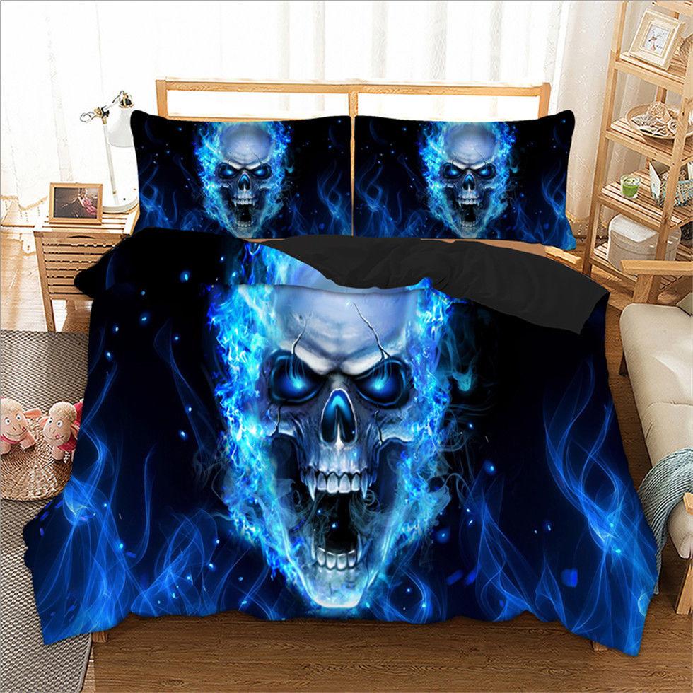 Skull Fury Duvet Cover Pillow Case Twin Full Queen King