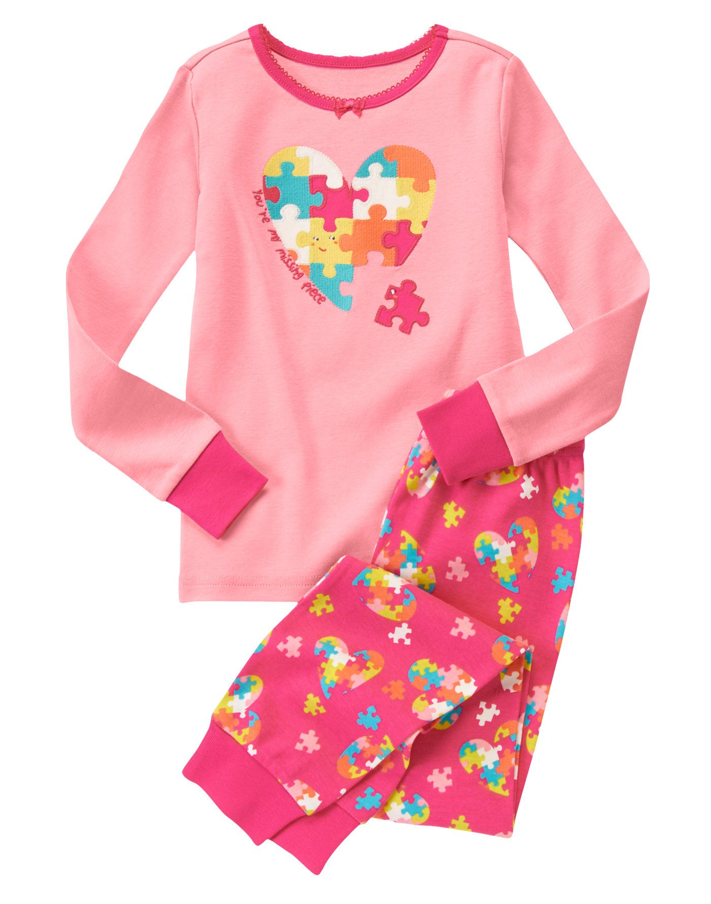 3cb8193403a8 Puzzle Piece Heart Two-Piece Gymmies® at Gymboree (Gymboree 3m-5T ...