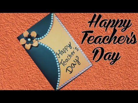 Diy teachers day card how to make beautiful teacher day card \\teachers day greeting card - YouTube #teachersdaycard