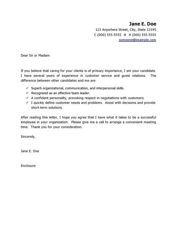 Customer Service Resume Cover Letter Http Www