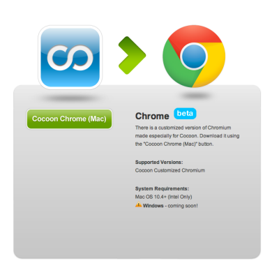 Pin by Get Cocoon on Promotions | Logos, Chrome, App