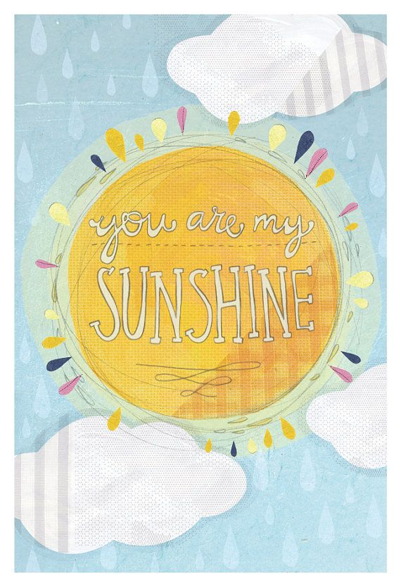 You are my sunshine 12x18 Print by yellowbuttonstudio on Etsy ...