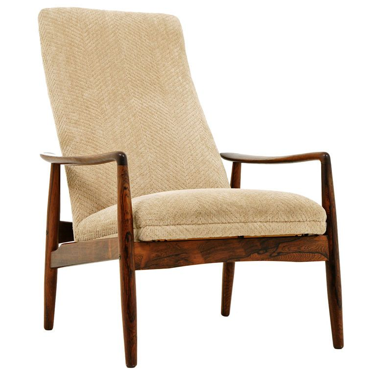 Svend Langkilde; Rosewood Reclining Lounge Chair for SL