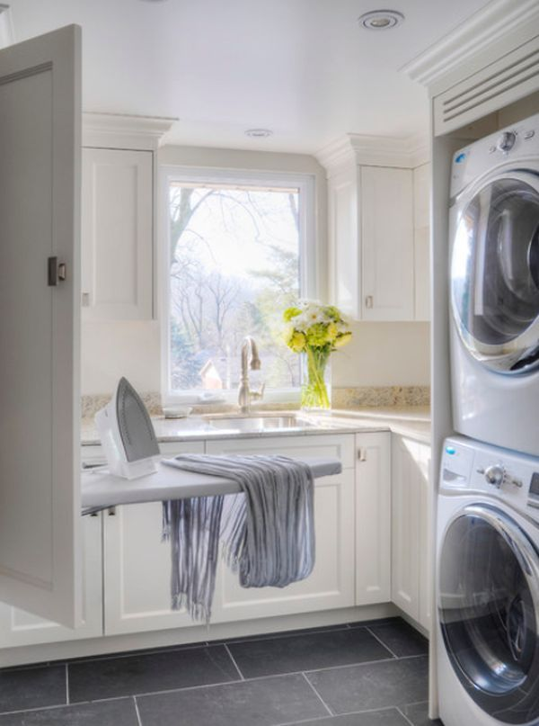 five great ideas for a revamped laundry room modern on extraordinary small laundry room design and decorating ideas modest laundry space id=20532