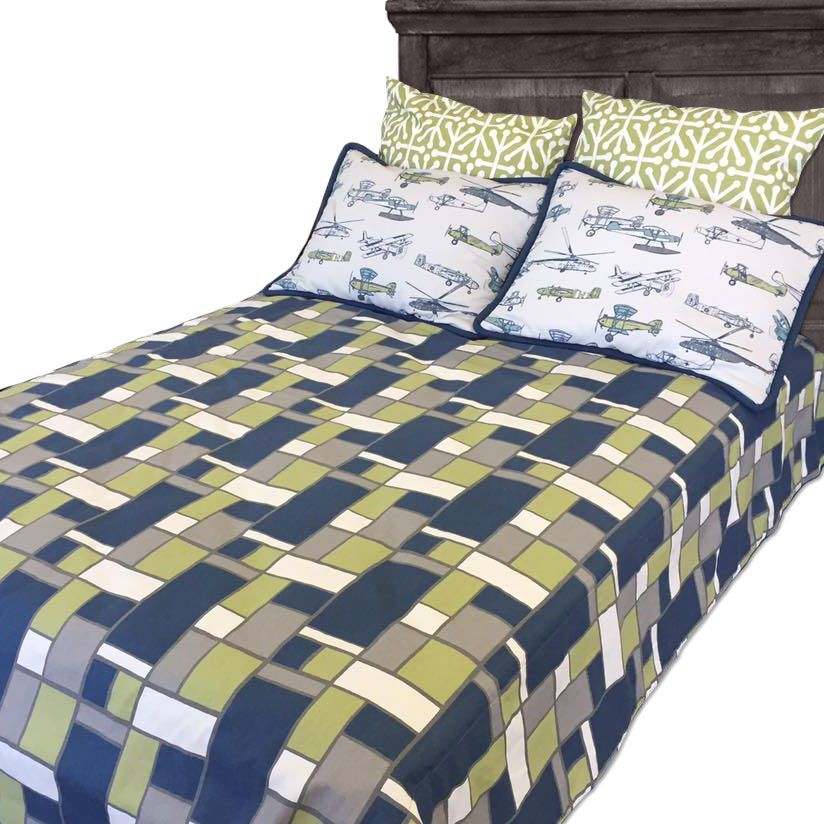 Sam Geometric Boxed Tailored Bunk Bed Comforter Bed Comforters Bunk Beds Bed