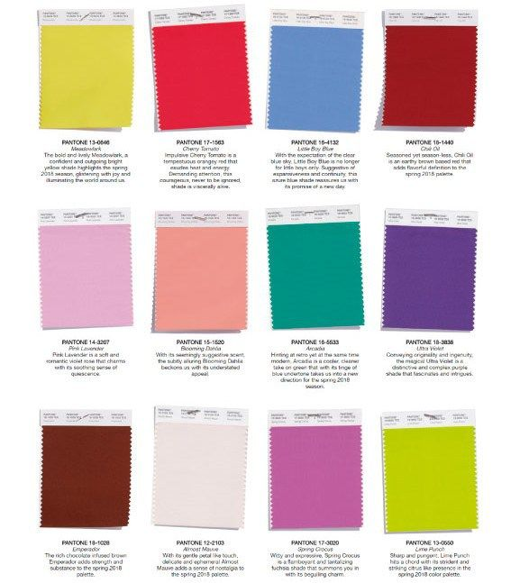 Pantone: reporte de colores Primavera 2018. | Fashion | Pinterest ...