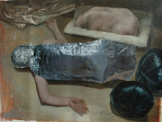 Teodora Axente, No Body, 2012 oil on canvas 38.6 x 51.6 in (98 x 131 cm)