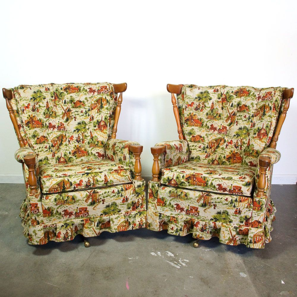 Two Mid Century Swivel Rockers Pair Of Matching