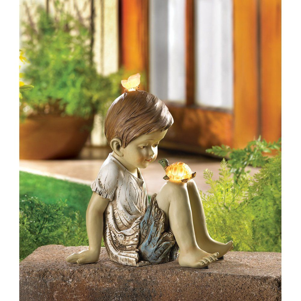 Amazon.com : Making Friends Solar Lighted Garden Statue : Statues : Patio,  Lawn