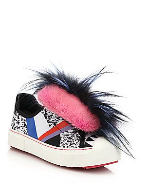 Fendi 2016 Fur Flynn Sneakers discount supply how much cheap price sneakernews cheap price clearance get authentic bnkjD0a