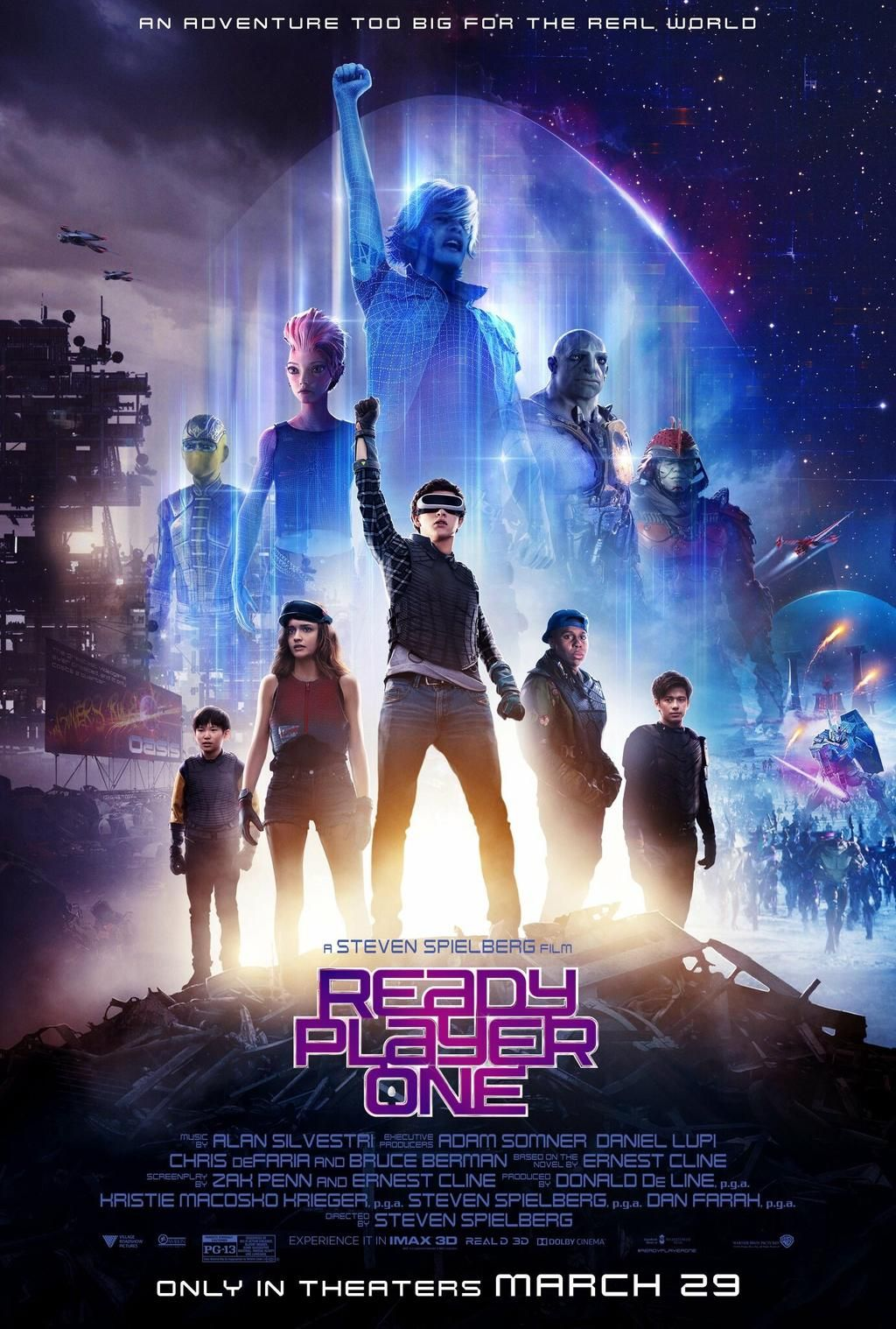 The poster for the movie prequel to Ready Player Two.