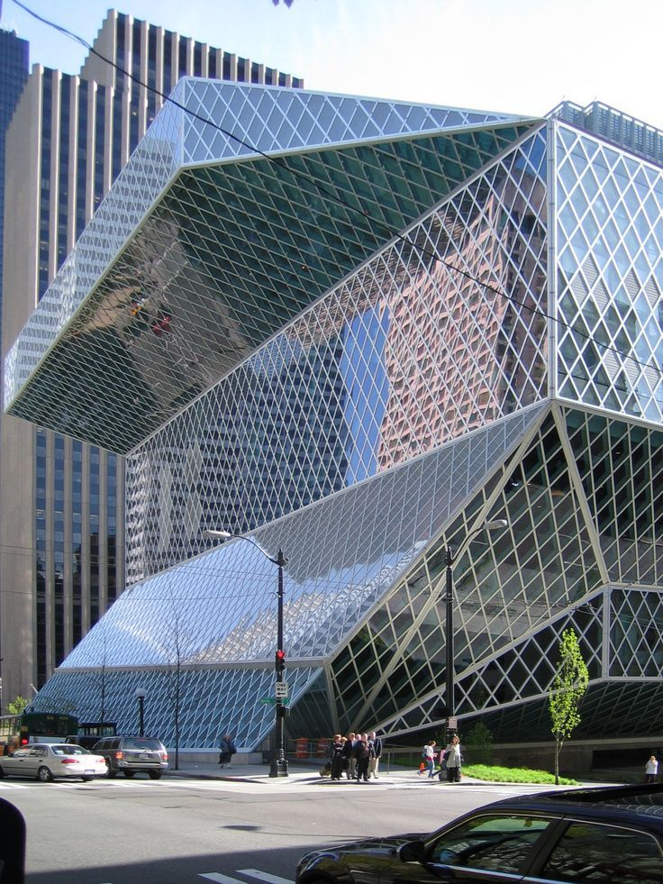 Seattle Central Library 11 Floors Of Awesome Architecture And Design The Kids Book Room Is Bigg Seattle Architecture Seattle Central Library Seattle Library