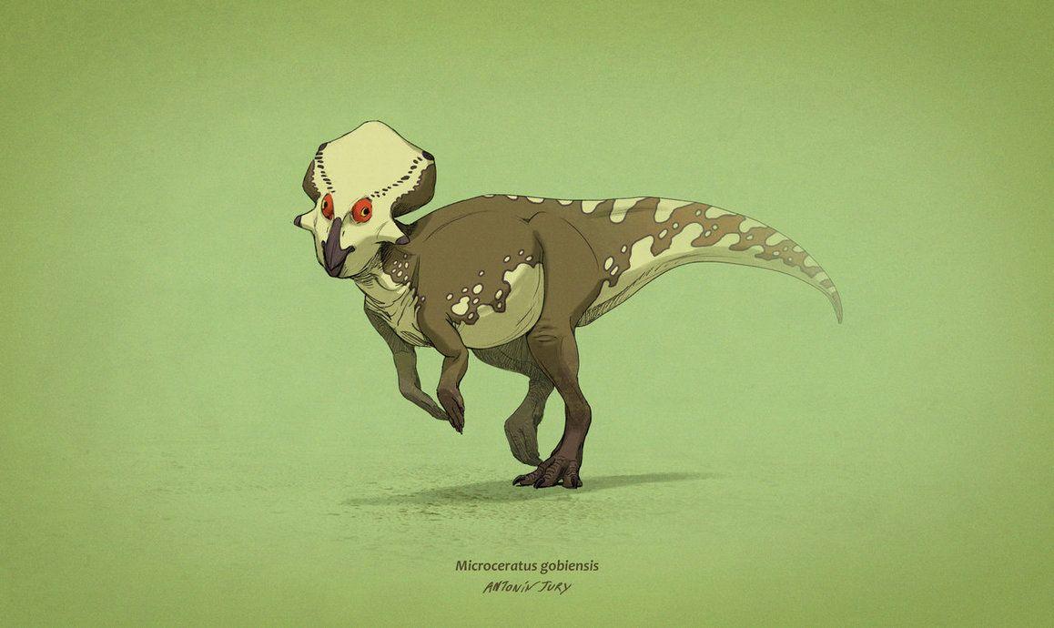 Dinovember #7 - Microceratus gobiensis by AntoninJury on DeviantArt