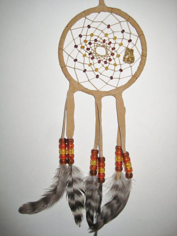 Cat Dream Catcher  4 inch by moonshadowgift on Etsy, $15.40