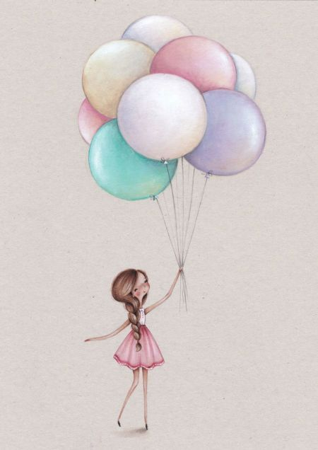 Best Birthday Quotes : Alice Wong  Girl And Balloon