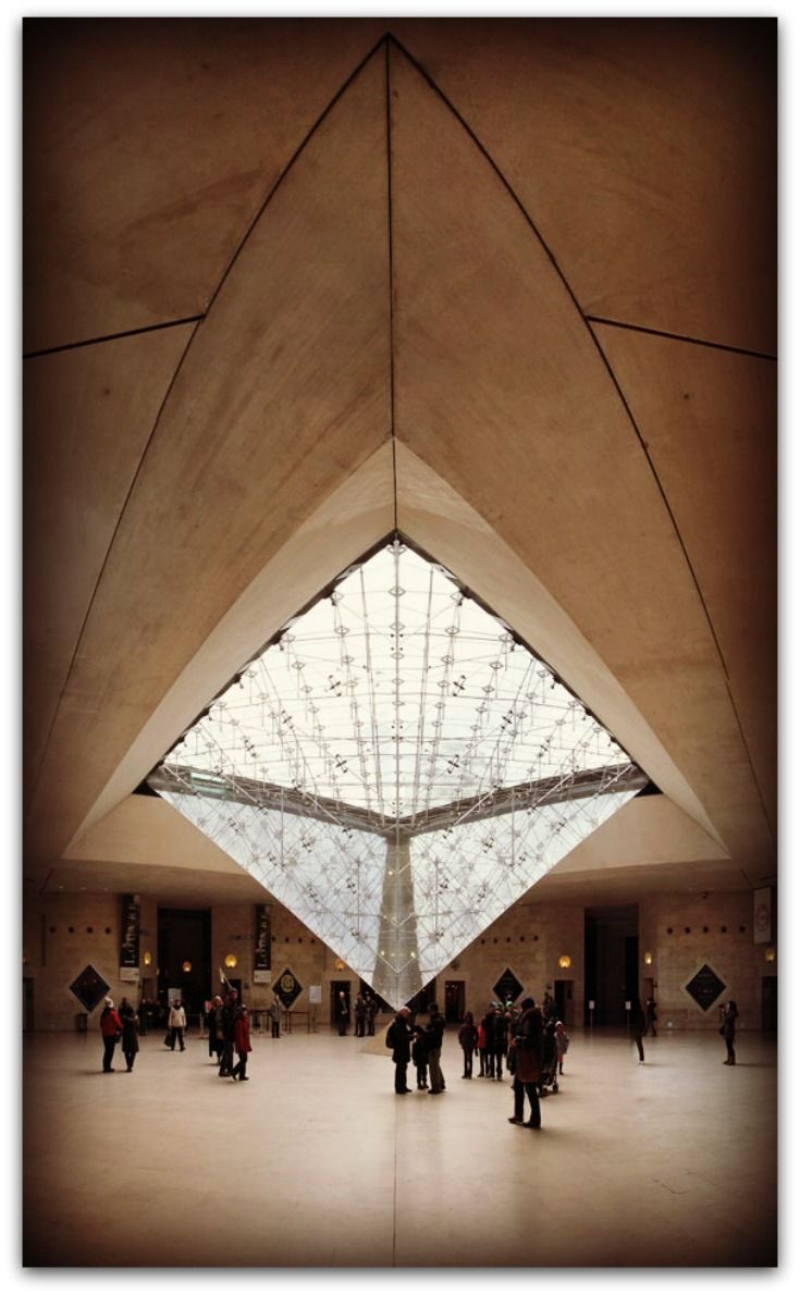 inside la pyramide du louvres paris france louvre. Black Bedroom Furniture Sets. Home Design Ideas