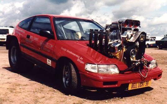 Sherrie's new car?     Honda CRX V8   LOL    Sherrie, moon