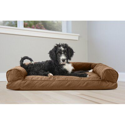 "Archie & Oscar™ Charmaine Deluxe Dog Bolster Color: Warm Brown, Size: Large (36"" W x 27"" D x 6.5"" H)"