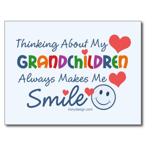 I Love My Grandchildren Postcard   Zazzle.com #grandchildrenquotes