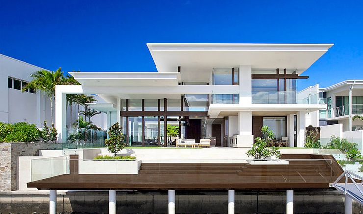 Maison moderne australienne pour une famille moderne Architecture - entree de maison contemporaine