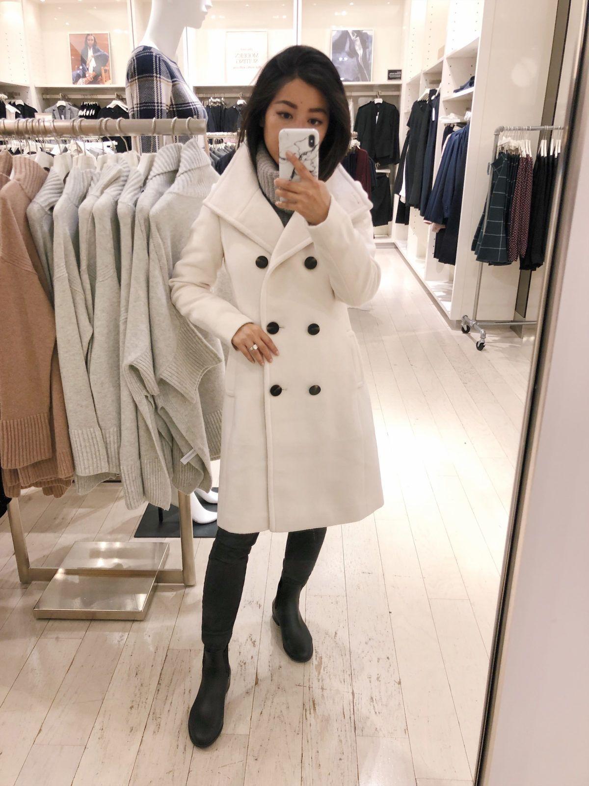 Ann Taylor Petite Winter Coat Try Ons On Sale Petite Winter Coats Wool Coat Outfit White Wool Coat [ 1600 x 1200 Pixel ]
