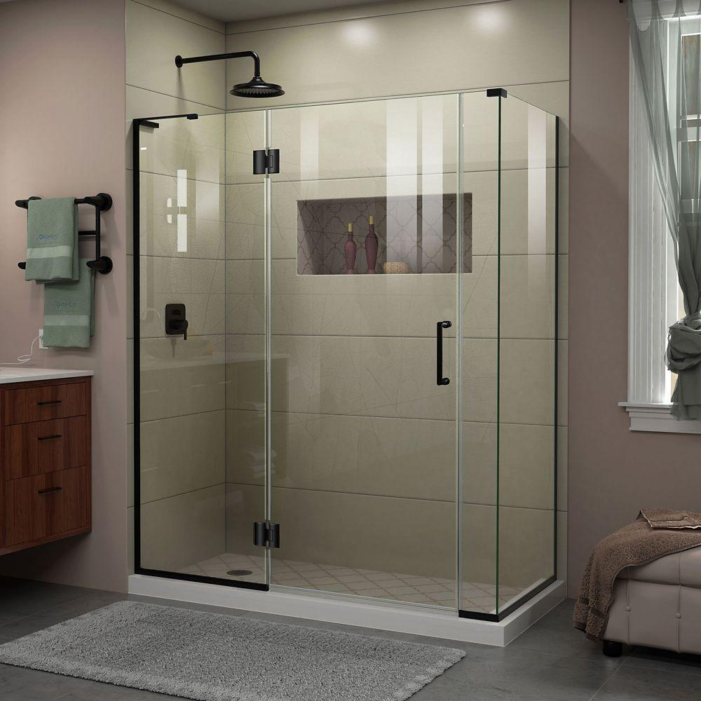 Unidoor X 58 Inch W X 34 3 8 Inch D X 72 Inch Frameless Shower