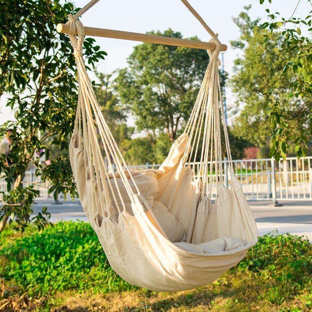 Hammock chair macrame swing seat hanging indoor outdoor home patio deck garden ebay