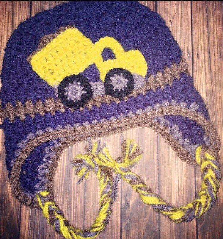 Dump Truck- Crochet hat- Construction-TODDLER BOY- Baby boy- Sizes ...