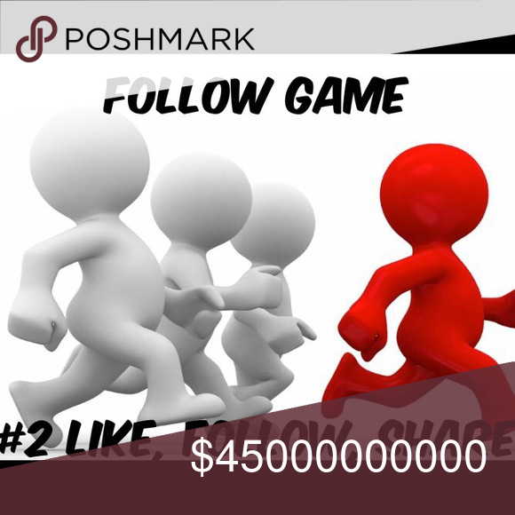 FOLLOW GAME #2 Help me get to 35,000 followers and increase your followers too! 1. Like This Post! 2. Follow others who have liked this post 3. Tag your friends and Share 4. Rinse and repeat when there is a price drop!                  Do NOT be that guy who likes the post, but who doesn't ever come back to follow others or share the game! I will shamelessly call you out for abusing the system! This is meant to be a cooperative effort  Bags