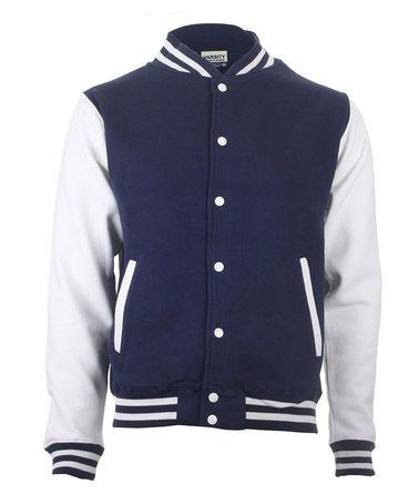 897da4f29fa Look what I found on  zulily! Navy   White Letterman Jacket - Women ...