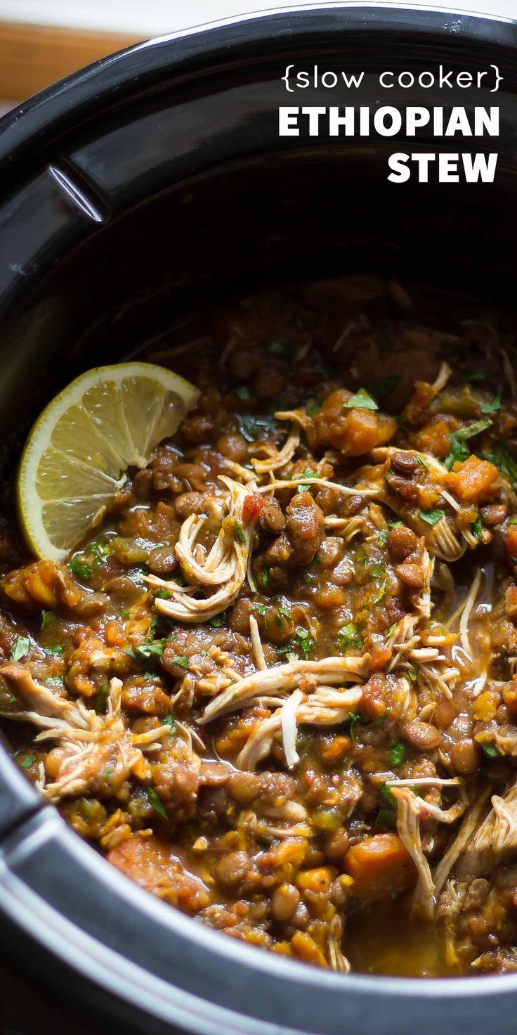 Photo of Slow Cooker Ethiopian Chicken Stew with Lentils and Sweet Potato