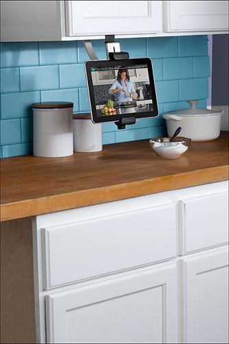 The Company Introduced An Easy Installation Under Cabinet Mount For The IPad.  The Mount Uses A Clamp To Any Cabinet Or Shelf And Holds The IPad In Place,  ...
