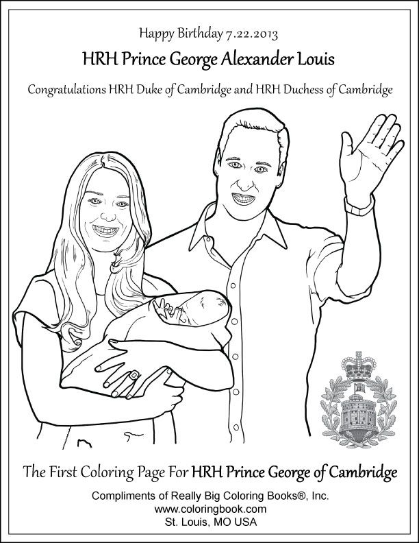 Coloring Books | George Alexander Louis Free Coloring Page ...