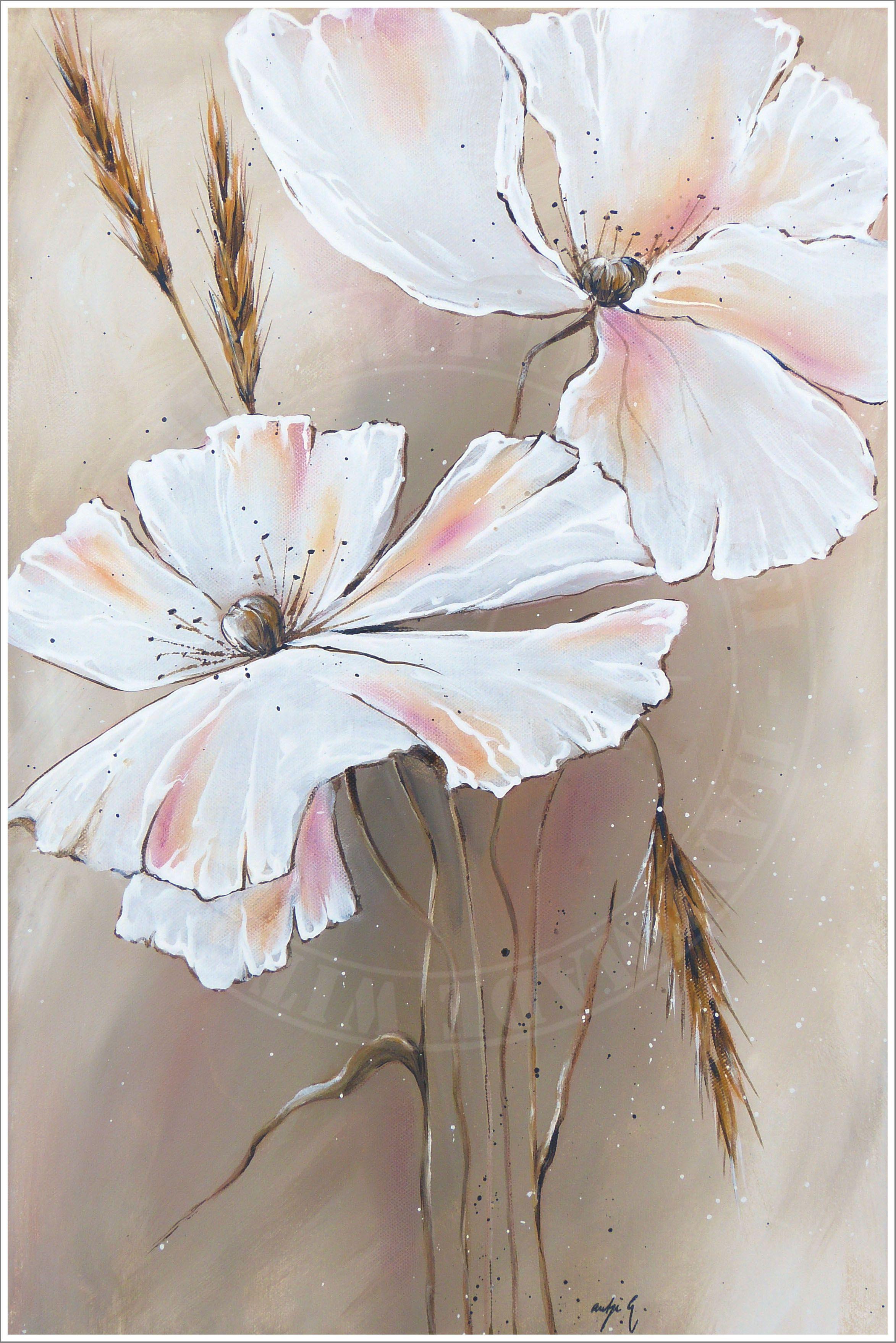 Orchidee In Acryl Blumen Malen Acryl Acrylbilder Blumen Und