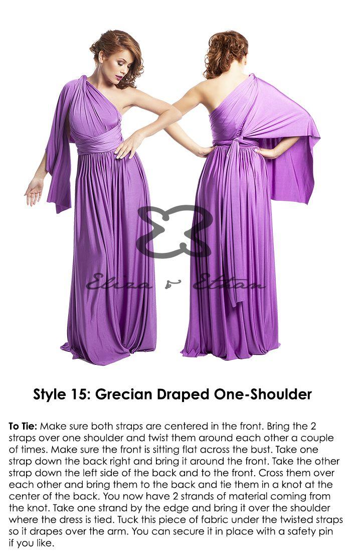 How to Wrap | Eliza & Ethan | Infinity dress | Pinterest | Damitas ...