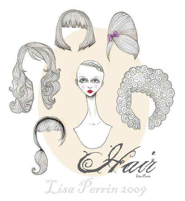 Hair Styles Paper Doll  Dolls Ephemera And Digi Stamps