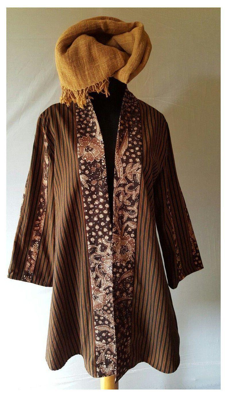 Model Gamis Batik Lurik #blouse #batik #lurik in 12  Blouse