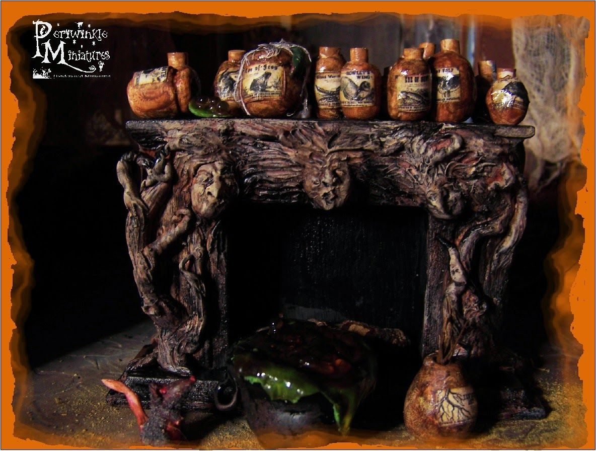 Periwinkle Miniatures: Some of my new Halloween Miniatures for 2014