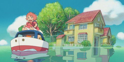 Miyazaki's 'Ponyo on the Cliff by the Sea' (2009):