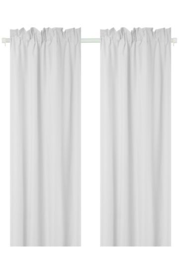 Microfibre Twin Pack Curtain Curtains Curtains Bedroom Decor