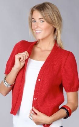 Short Sleeve Cardigan Free Knitting Pattern | knits for her ...