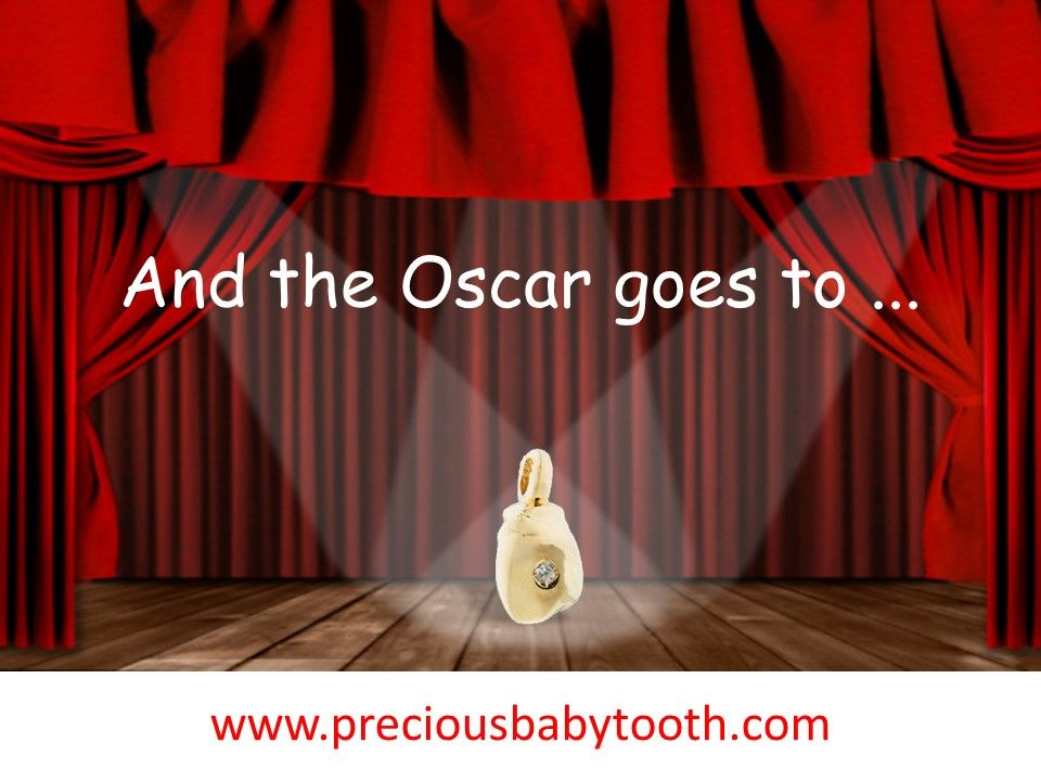 And the Oscar goes to... BAMBINO - The Magical Baby Tooth www.preciousbabytooth.com #Oscar #Oscars #AcademyAwards #Oscar2017 #Oscars2017 #AcademyAwards2017 #Bambino #Magical #BabyTooth #Jewelry #Pendant