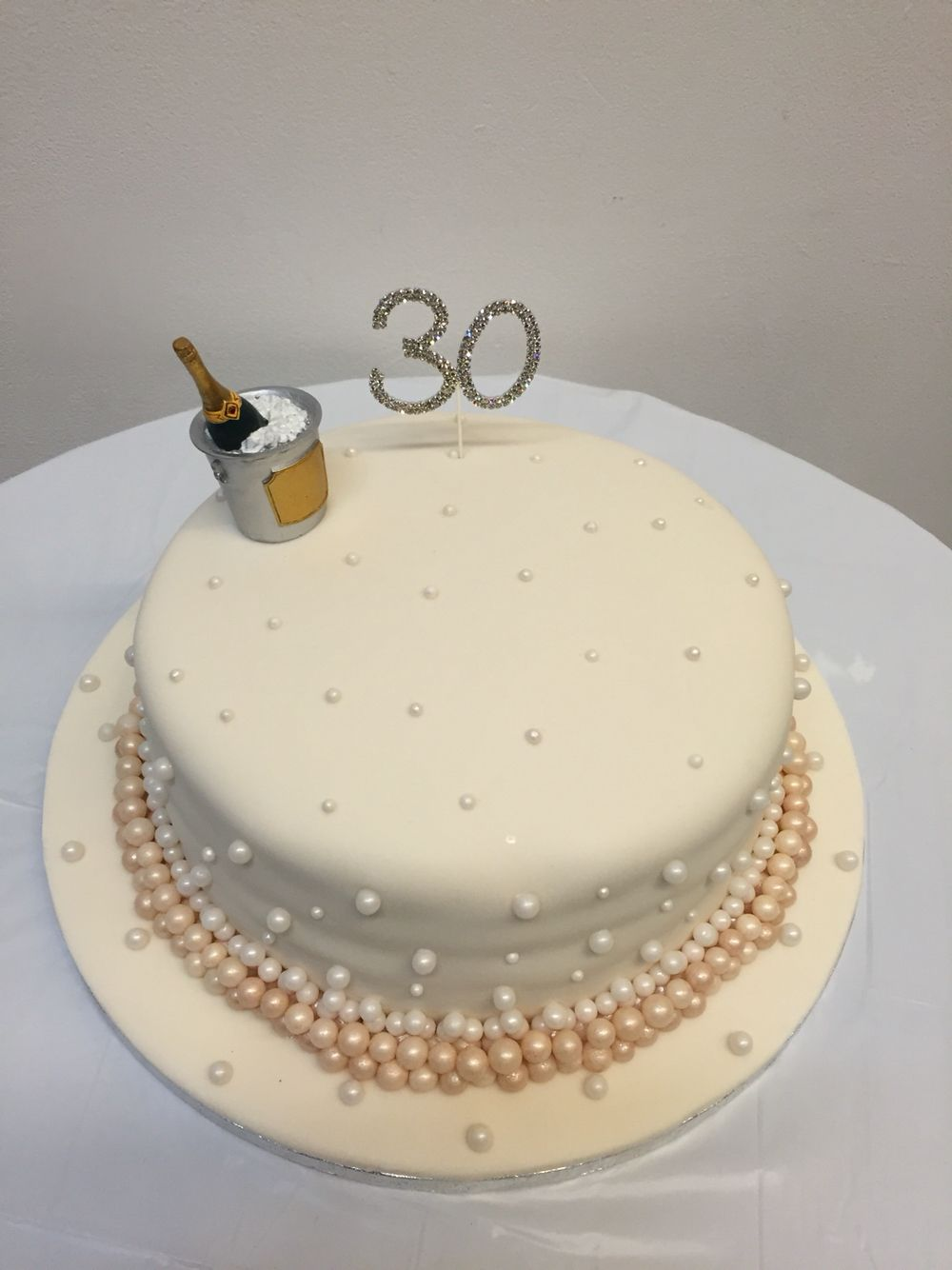 30th (pearl) wedding anniversary cake - lemon cake with lemon butter ...